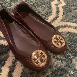 Tory Burch BALLET FLAT, QUILTED LEATHER